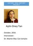 Interview with Aylin Oney Tan by Máirtín Mac Con Iomaire
